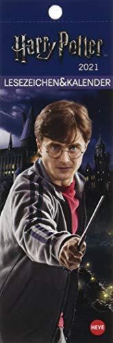 Harry Potter Lesezeichen & Kalender 2021 mit Monatskalendarium - perforierte Kalenderblätter zum Heraustrennen - zum Aufstellen oder Aufhängen - Format 6 x 18 cm