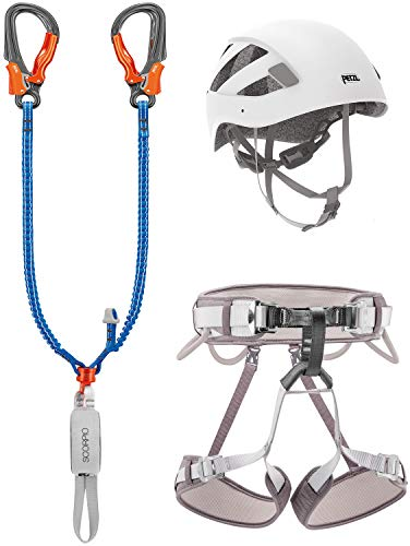 PETZL Kit Via Ferrata Eashook Corax T1 Set Adultos Unisex, Multicolor, 1