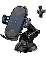 Wireless Car Charger Mount, 10W Qi Fast Charging Auto-Clamping Car Mount, Air Vent and Dashboard Car Phone Holder Compatible with Galaxy S20/S10+, iPhone11/11 Pro/11 Pro Max/XSMax/X/8P/8