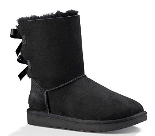 UGG Female Bailey Bow II Classic Boot, Black, 7 (UK)