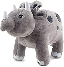 DOMALA Green Plush Dinosaur Plush Toys, Plush Dinosaur Plush Animals, Stegosaurus Dinosaur Toys, Suitable for Babies Girls Boys Children Birthday Gifts (Grey Triceratops)