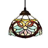 Lámpara Colgante De Tiffany Lámpara Colgante De 8 Pulgadas Lámpara Colgante De Luz Invertida De 1 Luz Lámpara De Techo De Pantalla Victoriana