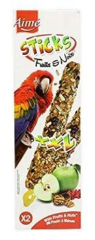 Aime Baguettes aux Fruits/Noix pour Perroquets/Friandises pour Oiseaux/2 Baguettes XXL