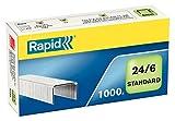 Rapid Heftklammern (24/6 mm, Standard, verzinkt) 1000 Stück