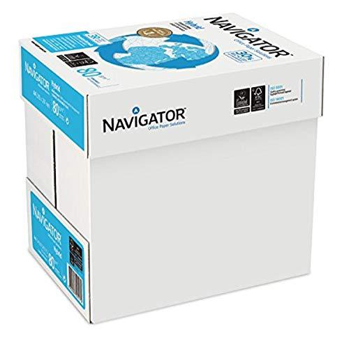 Navigator Hybrid - 2500 hojas de papel multifunción (5 paquetes de 500 hojas, 80 g/m², tamaño A4), 30% reciclado color blanco.