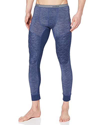 Odlo Pants Revolution TW X-Warm sous Fonctionnels-Caleçons & Leggings-Vêtements pour Homme, Mélange Bleu Marine, XXL