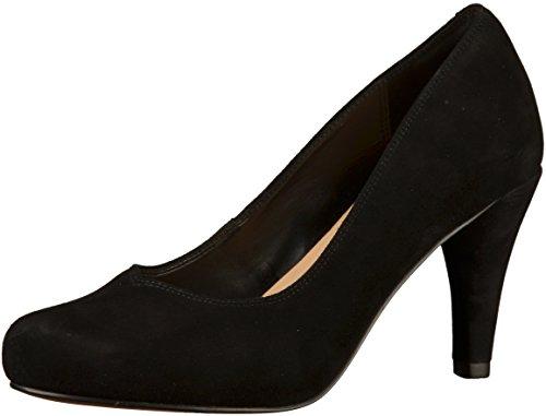 Clarks Dalia Rose Womens Court Shoes 6.5 D (M) UK/ 40 EU Schwarzes Wildleder
