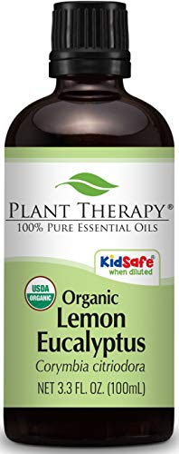 Plant Therapy Lemon Eucalyptus Organic Essential Oil 100% Pure, USDA Certified Organic, Undiluted, Natural Aromatherapy, Therapeutic Grade 100 mL (3.3 oz)