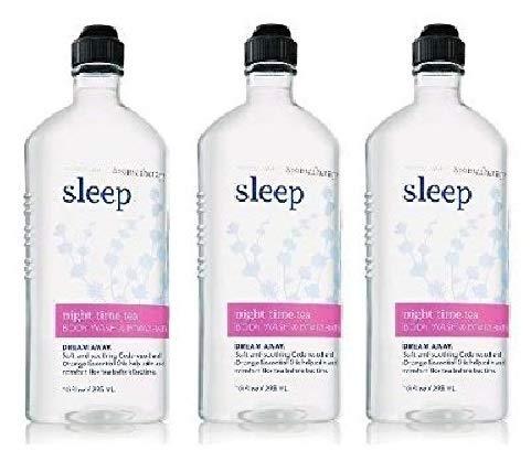 Bath and Body Works Aromatherapy Sleep Night Time Tea Value Pack 3 Bottles of Body Wash & Foam Bath 10 Oz Each