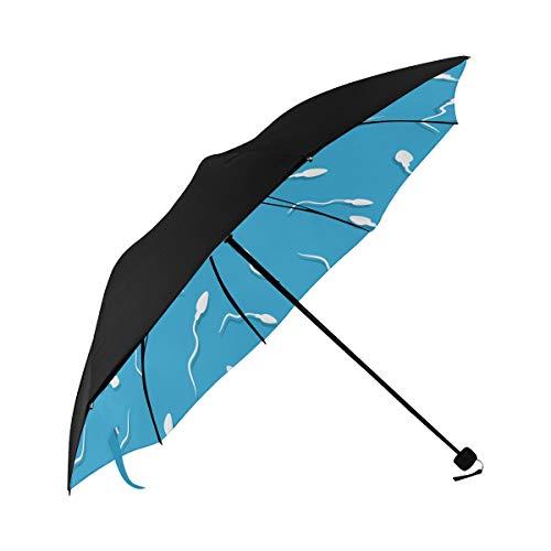 Ornamental Fish Sea Creatures Compact Travel Umbrella Sun Parasol Anti Uv Foldable Umbrellas(underside Printing) As Best Present For Women Sun Uv Protection