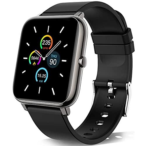 KALINCO Smartwatch, Smartwatch Uomo con Cardiofrequenzimetro, Orologio da Donna per Il Sonno Calorico Smartwatch con Monitor della Pressione Sanguigna e Dell ossigeno nel Sangue, per Android iOS