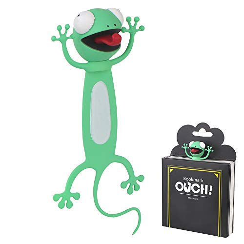 3D Cartoon Tier Lesezeichen, 3D Lesezeichen, Lesezeichen Tier Kinder Lesezeichen lustiges Geschenk für Jungen, Mädchen und Erwachsene Studenten Kinder Great Gift Stationery (Gecko)