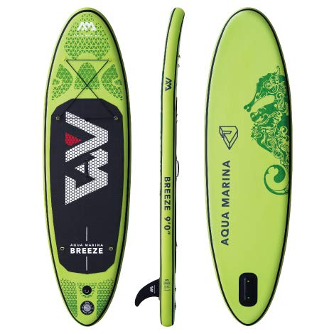 Aqua Marina Breeze SUP Stand Up Paddle Board (Grün Board + Paddel...