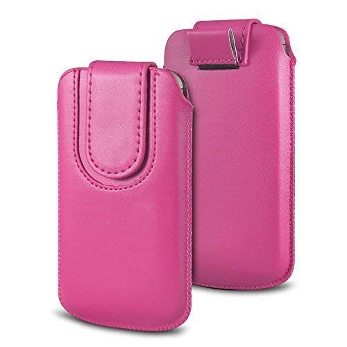 N4U Online Various Farbig Magnetisch PU Leder Zug Kippen Tab Schutzhüllen Tasche für Doogee X5S - Hot Pink