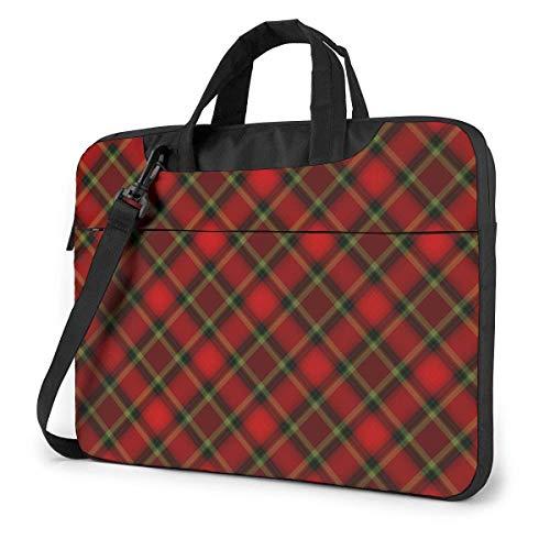 15.6″Durable Hombro Mensajero Bolsa maletín PC Patrón de Alces de Cuadros de búfalo Colorido Moda Impermeable Ordenador Portátil/portátil/Tablets