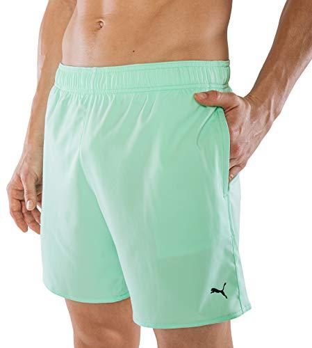 PUMA Herren Badehose Badeshorts Summer Deluxe Swim Shorts - Mint grün - Gr. XS