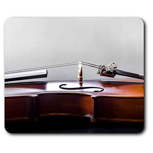 Comfortabele muismat: snaren instrument voor orkester viool voor computer en laptop, kantoor, cadeau, antislip onderkant.