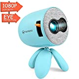 VANKYO Miracle110 Mini Portable Projector for Kids Best Gift, LED Eye Protection Video Projector 1080P Supported, Ideal for Movie Games, Cartoon, Home Theater, Compatible with TV Stick/Laptop/AV/HDMI