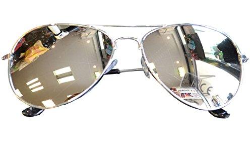 easy4fashion myfashionist Pilotenbrille Aviatorbrille Portobrille Sonnenbrille Brille verspiegelt (Silber)