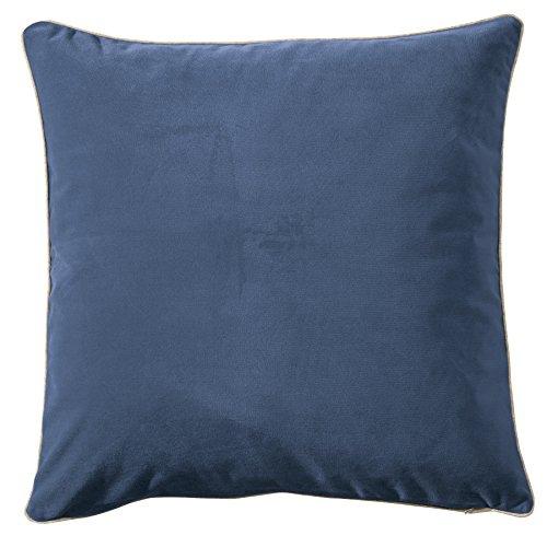 Pichler MELVA_K041/041_RB kuschelig und trendig - Kissenhülle 41 x 41 cm rauchblau