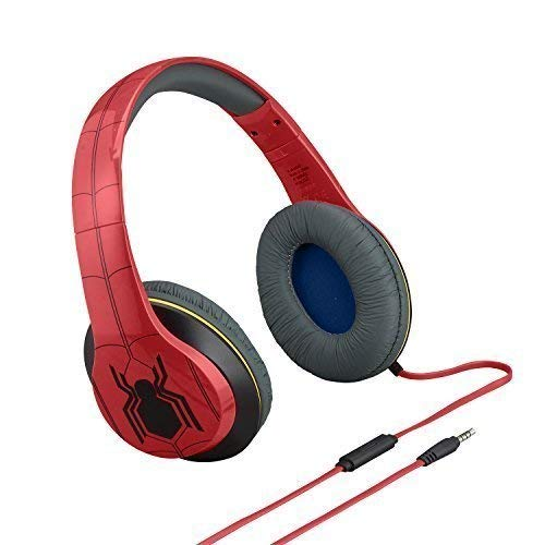 Spiderman Over-the-Ear Headphones with Built-in Microphone and Volume Control.