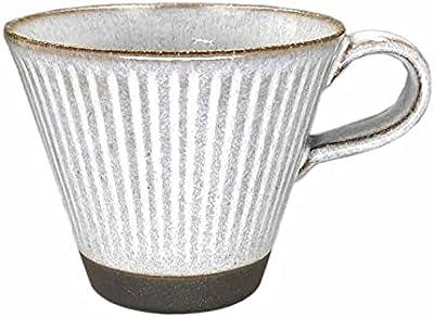 山勝美濃陶苑 マグカップ 美濃焼 陶器 四季を感じるマグ 春夏秋冬 320ml 陽だまり 白 HDM-1081TA