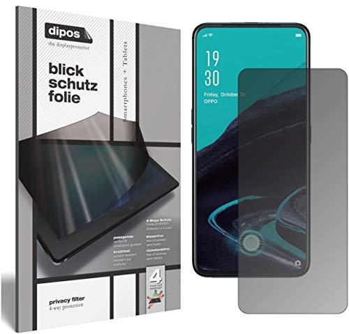 dipos I Blickschutzfolie matt kompatibel mit Oppo Reno2 Z Sichtschutz-Folie Bildschirm-Schutzfolie Privacy-Filter (bewusst Kleiner als das Glas, da Dieses gewölbt ist)
