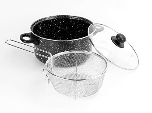 Urbn-chef Friteuse Différentes couleurs Marbre noir.