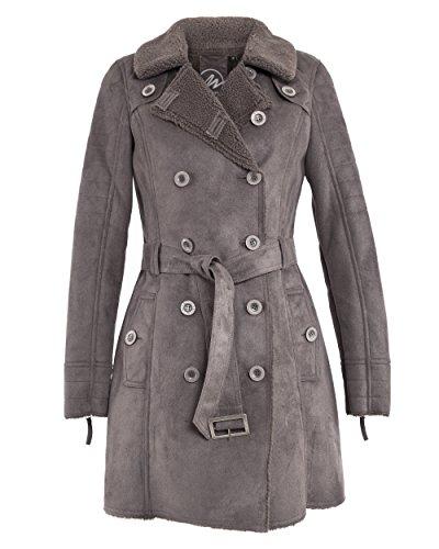 Maze Damen Mantel Mit Gürtel Guildford Grey XXL