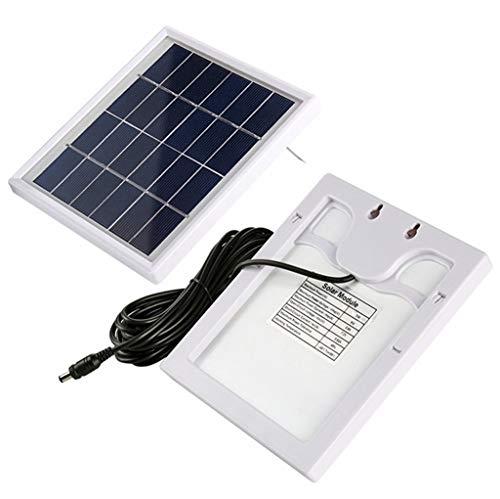 BikEX Led-schijnwerper op zonne-energie, voor buiten, accu-indicator, schijnwerper, IP66 waterdicht, tuin, straatlamp, terras, tuin, garage, verlichting, aluminium