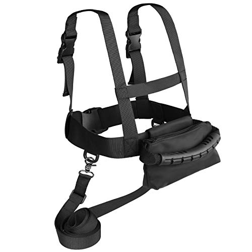 Odoland Ski and Snowboard Training Harness, Toddler Skiing Harness Trainer with Removable Leash, Easy Lift Handle and Bag, Speed Control Teaching, Perfect for Kid Beginners Boy and Girl