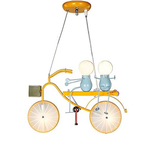 Kinderen ijzeren kroonluchter, Europese creatieve jongen meisjes fiets LED verlichting decoratieve plafondverlichting moderne minimalistische slaapkamer kleuterschool woonkamer hanglamp