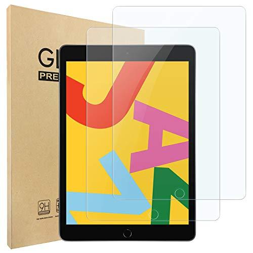 Hianjoo 2 PCS Pellicola Protettiva Compatibile per Apple iPad 7/8 10.2', [AntiGraffio] Vetro Temperato 9H Compatibile con Apple iPad 7/8(2018/2019)