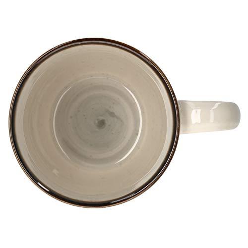 Van Well Kaffeebecher Nova I 380 ml I grau I echtes Unikat I XL-Jumbotasse I Tee-Pott I Tafel-Geschirr I Gastro-Zubehör I Brunch & Buffet I Strudel-Dekore