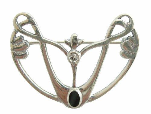 Damen Brosche Englischer Jugendstil im Stil Knox 925 Silber