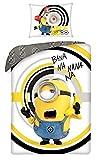 Halantex - MIN-9989BL - Juego de cama reversible de los Minions Bana NA Nana Nana Banana...