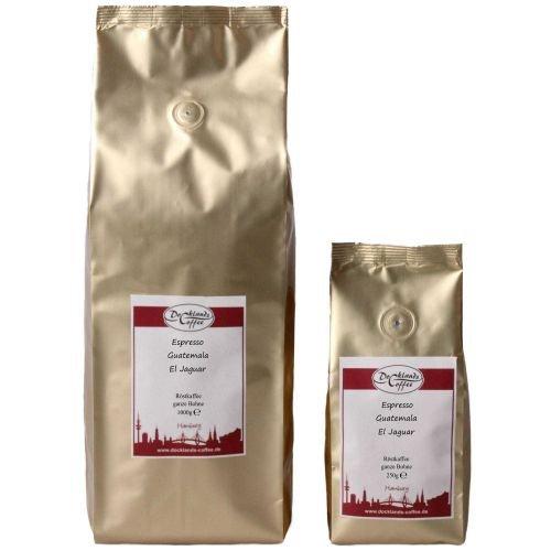 Espresso Kaffee Guatemala El Jaguar Gewicht Röstkaffee 1000g, FlavorName ganze Bohnen