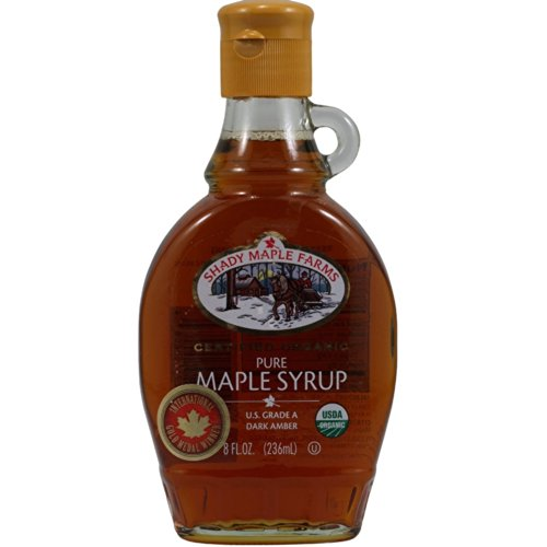 Shady Maple Farms Grade A Dark Maple Syrup, Gluten Free, 8-ounce Glass Jugs (Case of 12)