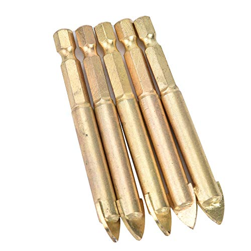 10 brocas de resistencia al desgaste de la herramienta de perforación a prueba de herrumbre con caja de almacenamiento para plástico (paquete de 5 hexagonales de 10 mm)