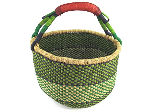 Einkaufskorb Rund Ø ca. 41cm | Handarbeit | Bolga Ghana | Fair Trade (Korb 5)