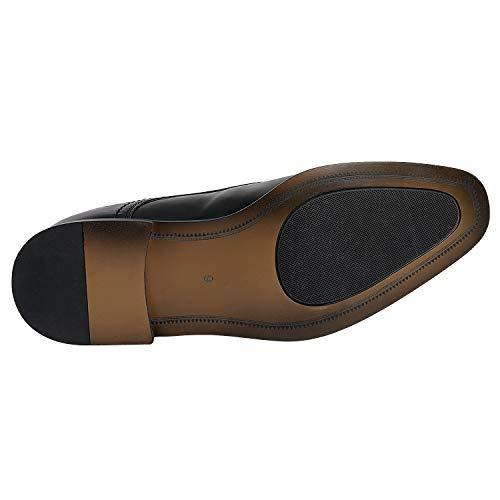 Bruno Marc Men's Dress Loafer Shoes Monk Strap Slip On Loafers Black Size 8.5 M US Hutchingson_2