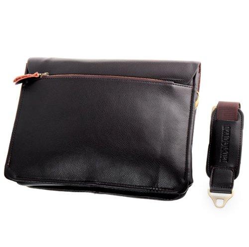 OFTEN® Men's Genuine Leather Handbag Shoulder Briefcase Laptop iPad Bag Purse Business Bag