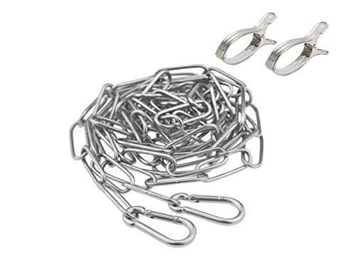 ステンレスロープ 物干しロープ 洗濯ロープ ハンガー掛け 省スペース 防風 防錆 屋外 屋内 家使用可 (4M)