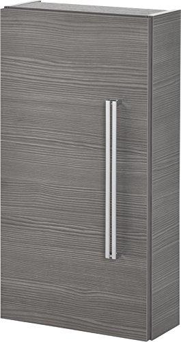 FACKELMANN Hängeschrank Lugano/mit Soft-Close-System/Maße (B x H x T): ca. 35 x 68 x 16 cm/hochwertiger Schrank fürs Bad/Türanschlag Links/Korpus: Grau/Front: Grau/Breite 35 cm
