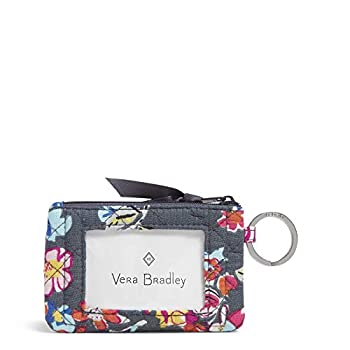 Vera Bradley Women s Wallet Signature Cotton Zip ID Case Pretty Posies One Size
