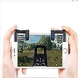 Controlador de juego móvil para juego de disparo PUBG, joystick para juegos con disparador de control móvil L1R1 y funda antisudor, (1 par de disparadores con clip ajustable + 3 en 1 mando portátil)