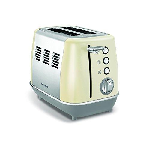 Morphy Richards Evoke 2 Slice Toaster 224407 Cream Two Slice Toaster Stainless Steel Cream Toaster