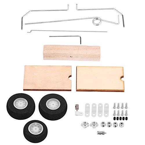 RC-Fahrwerk, DIY Metall Holz Starrflügel Modell Flugzeug Fahrwerk Rad Universal-Set von RC-Zubehör