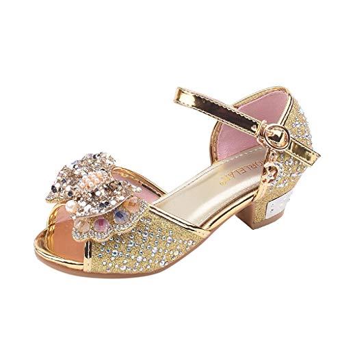 Berimaterry Zapatos de Tango Latino para Niños Vestir Fiesta Arco Princesa Sandalias Perla...