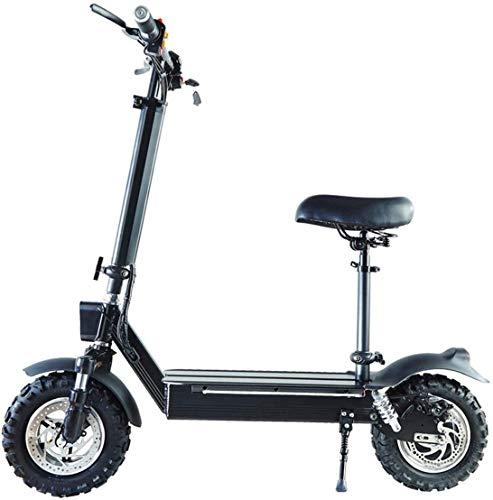 Xiaokang Scooter eléctrico Adulto Bicicleta Plegable eléctrica Off-Road 11 Pulgadas Pequeña Scooter eléctrico Mini batería eléctrica Coche,65 km